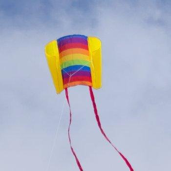 Einleiner-Drachen für Kinder - Beach Kite Rainbow - inkl. Drachenschnur