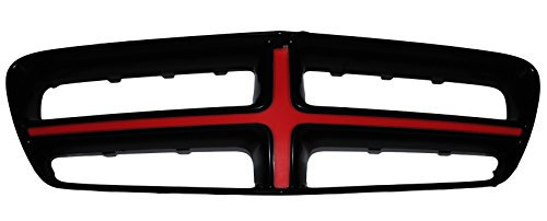 Illuminated Crosshair Front Grille LED Red Light 2011-2014 Dodge - Cross Illuminated