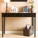 Cheap Southern Enterprises 2 Drawer Wood Writing Desk in Satin Black