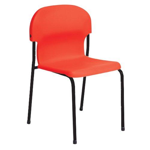 Metalliform 2015-bk-red standard Classroom sedia con sedile 380mm, rosso