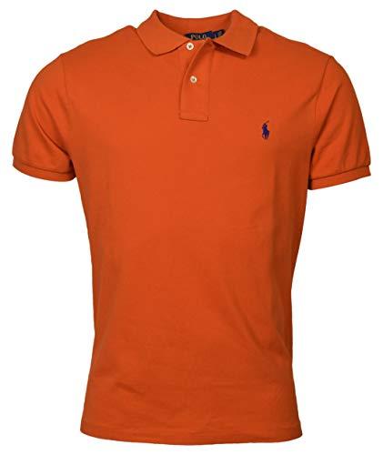 Polo Ralph Lauren Mens Custom Slim Fit Mesh Polo Shirt (XX-Large, College Orange) ()