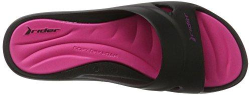 Rider Rider Sandalias Mujer Pink Feet Fem VII Slide Mehrfarbig Black 1qqFd7