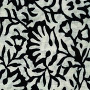 Headcovers Unlimited Padded Carol Chemo Scarves for Women with Cancer, Chemo, and Hair Loss Stamped Lotus- Black on Taupe by Headcovers Unlimited (Image #1)