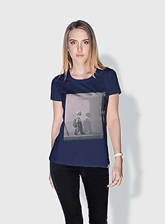Creo Kid Skulls T-Shirts For Women - Xl, Blue