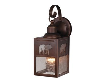 Vaxcel Lighting OW35053BBZ Yellowstone - One Light Outdoor Wall Sconce, Burnished Bronze Finish with Seeded Glass Burnished Finish Outdoor Sconce
