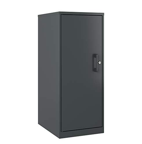 Office Dimensions 22542 3 Shelf Personal Storage Cabinet, Locking, Charcoal ()