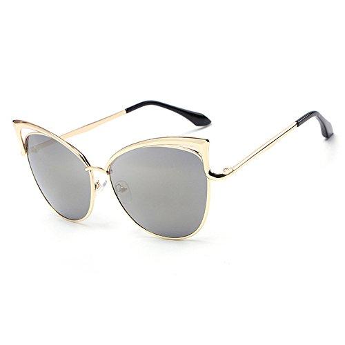 Marco de señora libre de dorado la de la sol gafas gafas sol de RFVBNM del al ULTRAVIOLETA Gafas aire de de personalidad sol manera personalidad las anti de oro la local marco wP05xqfTq