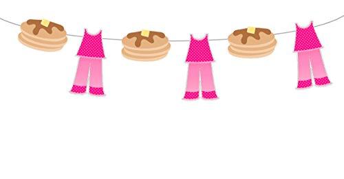 Pajamas and Pancake Garland, Pajamas and Pancake Banner, Pancake Birthday Banner, Pancake Party, Pancake Decorations -