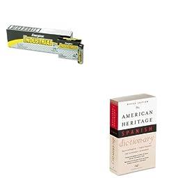 KITEVEEN91HOUH21079 - Value Kit - HOUGHTON MIFFLIN COMPANY American Heritage Office Spanish Dictionary (HOUH21079) and Energizer Industrial Alkaline Batteries (EVEEN91)