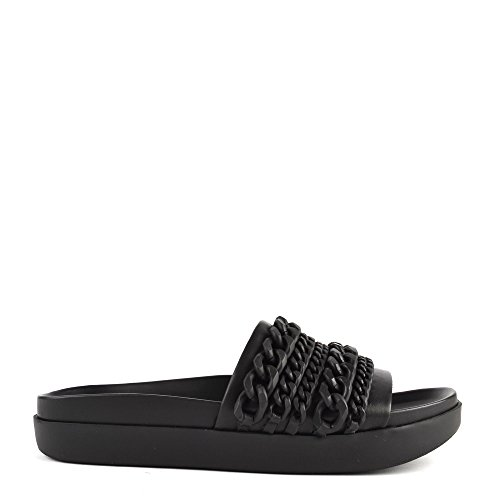 Kendall and Kylie Shiloh2, Mules Mujer Negro (Black Nappa / Black)