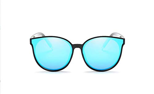 Conductor De Marco Tabletas liwenjun Gafas Gafas Cara Azul UV Gafas Sol Polarizadas Negro De Hielo Redonda De Polarizado Sol Conducción qvBwB65Hx