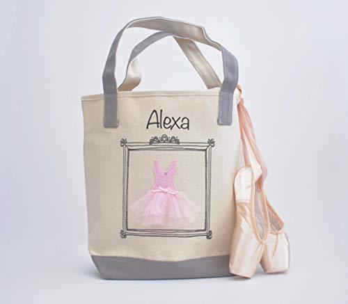 Personalized Flower Girl Tote - Medium Ballerina Tote, Dance Bag, Personalized Flower Girl Gift, Tutu Ballet Bag