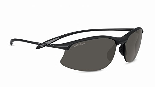 Serengeti Maestrale Polar Sunglasses,Satin Black with CPG Lenses