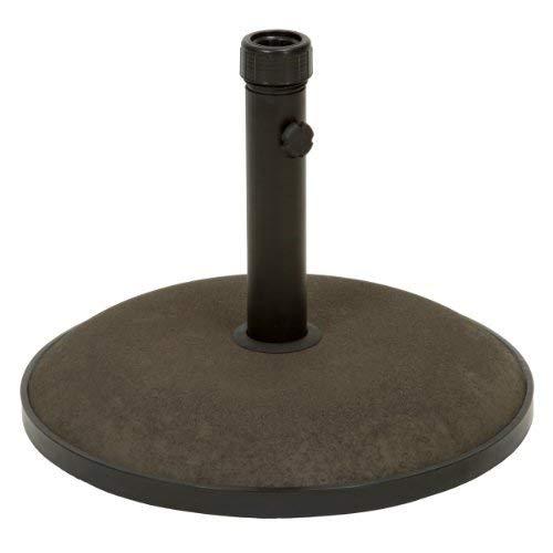 Great Deal Furniture 239323 Gretna Round Brown Concrete Umbrella Base (Stand Concrete Umbrella)