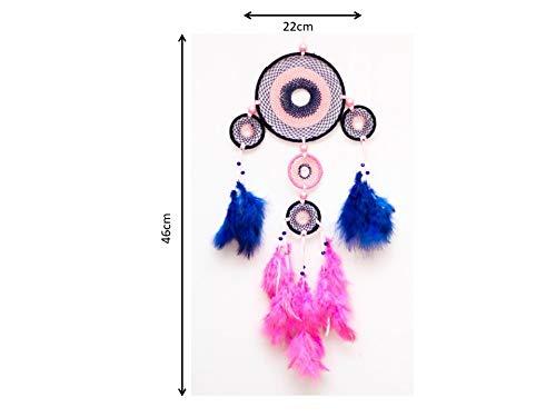 Intermittent Dream Catcher Blue and Pink DDC90BP Daedal dream catchers