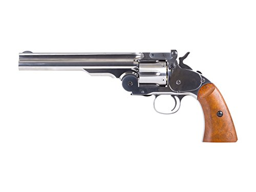 Schofield No. 3 Nickel CO2 BB Revolver, Full Metal air pistol by Wholesale Surplus
