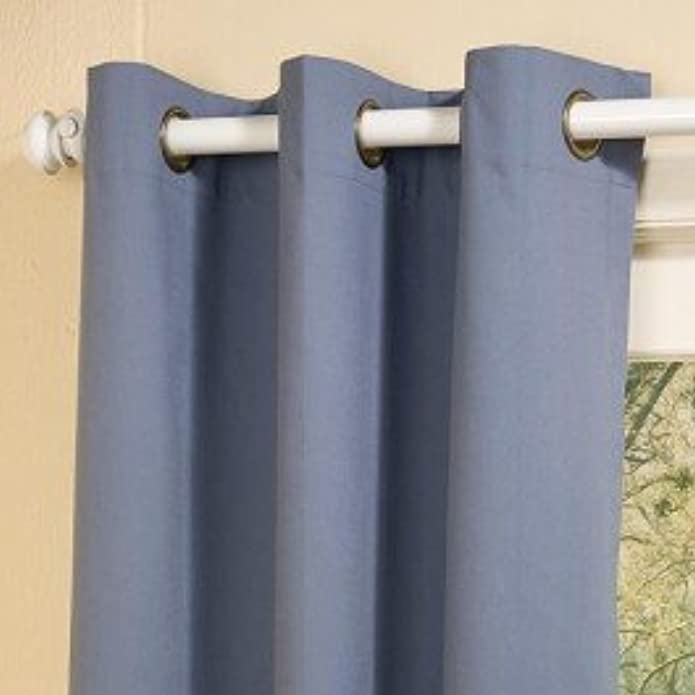 "80""x63"" Weathermate Grommet Top Room Darkening Curtain Panel Pair Blue - Thermalogic"
