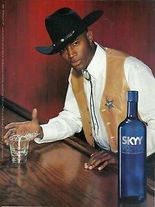 **PRINT AD** For 2003 Skyy Vodka #36 Straight Up Cowboy **PRINT AD** (Straight Vodka)