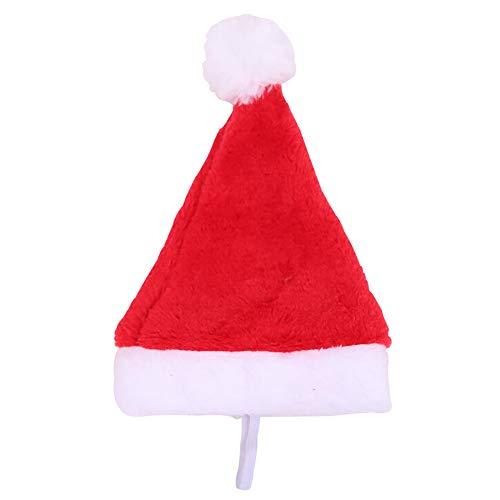 (Sikye Lovely Christmas Pet Hat Red Plush Santa Hat Puppy Cat Dog Xmas Holiday Costume)