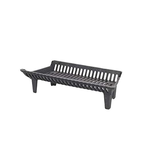 """HY-C Liberty Foundry G27-4-BX Heavy-Duty Cast Iron Curved Basket Style Fireplace Grate, 27"""" Front W x 12"""" D x 8"""" H (4"""" Leg Height)"""