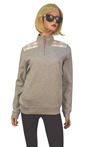 Vineyard Vines Womens Jersey 1/4 Zip Pullover Sweater (Medium, Heather Grey) from Vineyard Vines