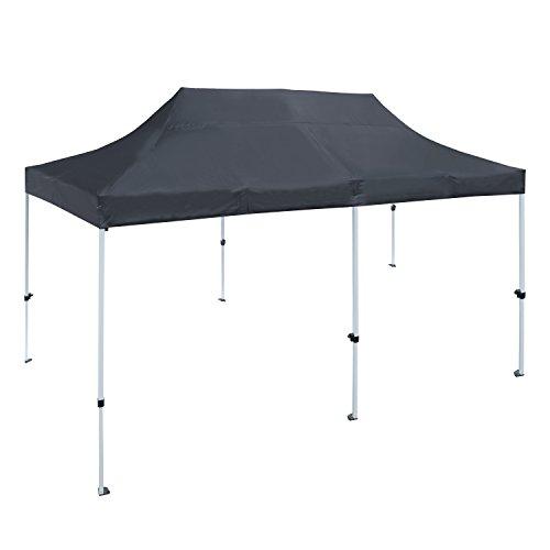 ALEKO GZF10X20BK Foldable Pop Up Polyester Gazebo Canopy Patio Coffee Shelter 10 x 20 Feet Black