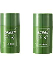 (2021 Upgraded)Green Mask Stick Green Clay Purifying Clay Stick Face Cover Deep Cleansing Moisturizing Facial Blackhead Remover Acne Green Tea Face Cover