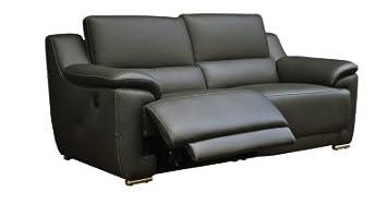 Canapé 3 Places 2 Relax électrique Vogg Cuir Croûte Cuir
