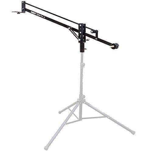 "4' Camera Mounting Bracket - FILMCITY Flylite 4ft/48"" Mini Jib Arm with Pan & Tilt Locks & Dual Mounting Provision | Best Travel/Indoor/Outdoor Portable Aluminum Crane for DSLR Video Camera up to 10kg/22lb + Bag (FLT-PRO-4-J)"