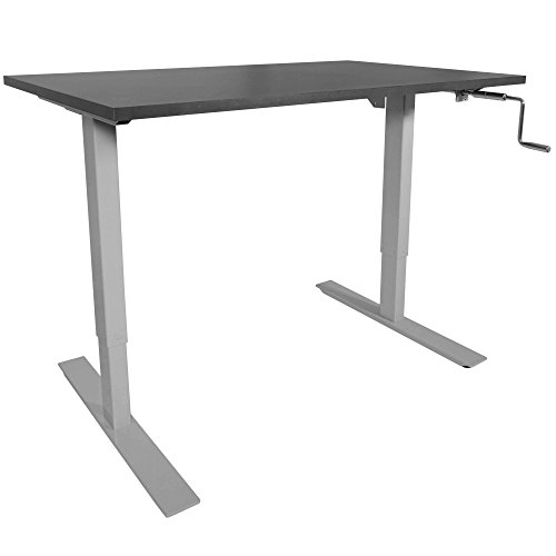 "Titan 30"" x 48 S5 Adjustable Height Sit To Stand Black Wood Desk 28- 47 H"