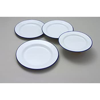 Dinner Plate Traditional White 22cm Crockery Dining Tableware Household
