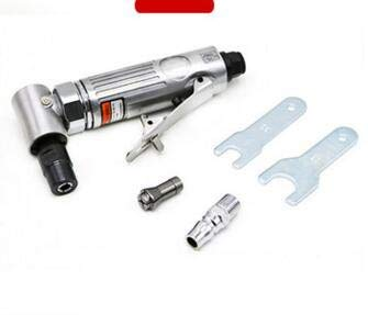 Air Die Grinder, Pneumatic Right Angle Die Grinder Polisher Cleaning Cutting Tool 1/4'' Cut Off Cutting,90 Degree High Speed Pneumatic Grinder,Multilateral Rear Exhaust