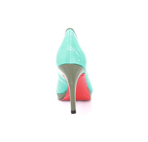 Heels Shoes Women's Court Diamond lagune Blau dqA7fw7x4