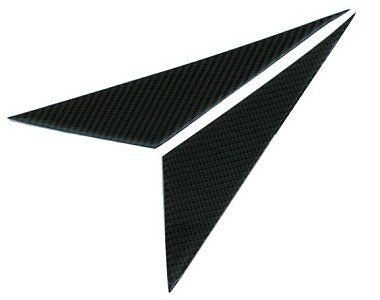 Carbon Fiber Pillars (1997-2004 C5 Corvette Carbon Fiber A Pillar Covers; 2pc. for Driver & Passenger Side)