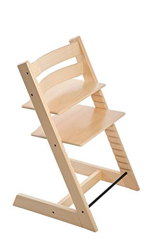 Stokke 2019 Tripp Trapp Chair, Chair Only, Natural (Stokke High Chair Cushion)