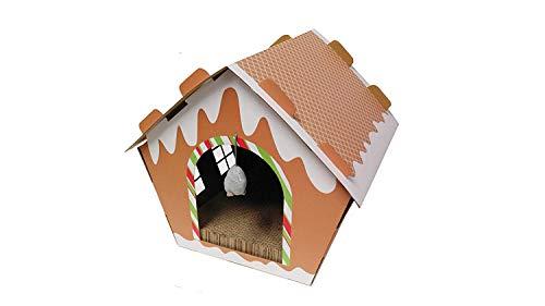 Midlee Gingerbread Christmas Cat Scratcher -