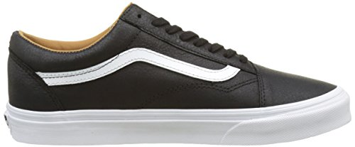 Noir Homme Vans Leather Baskets Old Skool premium Black Ua true White Basses CCqYaO