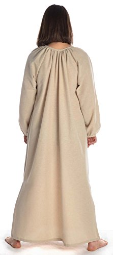 Mittelalter Wikinger Kleid HEMAD naturbelassene Damen XXXL hanffarben S Beige Baumwolle CtqCPw