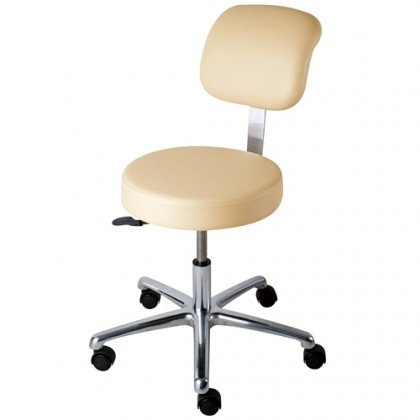 Pneumatic Lift Stools - With Adjustable Backrest and Paddle Height Lever, 5-Leg