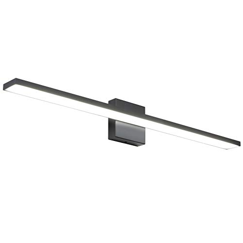 Ralbay 31.5inch Modern LED Black Vanity Light 28W Aluminum Frosted Acrylic for Bathroom Vanity Lighting Fixtures Cool…