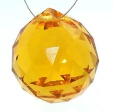 Amber Prisms (40mm Asfour Crystal Ball Prisms #701-40)