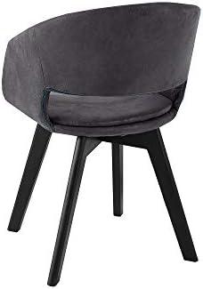 DuNord Design Chaise de Salle à Manger 2 chaises Vintage en métal Motif scandinave Gris