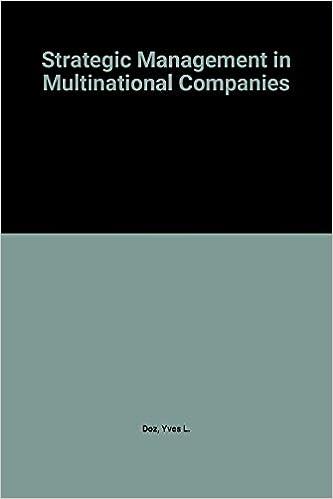 Amazon Com Strategic Management In Multinational Companies 9780080318080 Doz Y Books