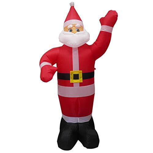 Papai Noel Natal Bluetooth Musical 1 metro e 90 cm 110v Decoracao
