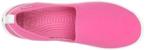 Crocs Duet Sport Skimmer - Zapatos sin cordones de sintético mujer Hot Pink/White