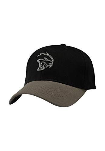 SRT Dodge Hellcat Two Tone Cap, Black/Grey, One Size Fits Most
