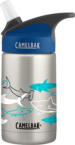 CamelBak Eddy Kids Vacuum Stainless 12OZ, Sketchy Sharks, 12 Oz