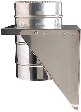 Shieldmaster 5 Adjustable Base Support Stainless Steel Twin Wall Insulated Flue Pipe Solid Fuel