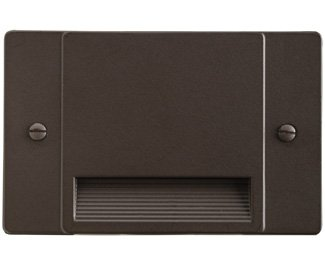 Kichler 12663AZ Step and Hall 120V LED Step Light Non-Dimmable, Architectural Bronze by KICHLER