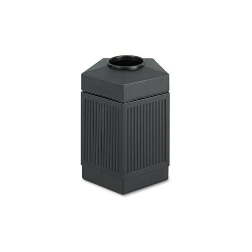 Safco 9486BL Canmeleon Indoor/Outdoor Receptacle Pentagon Polyethylene 45gal Black